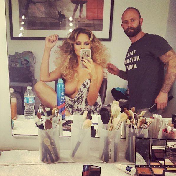 Chrissy Teigen topless on instagram