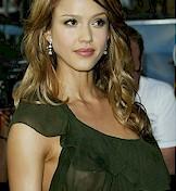 Jessica Alba nip slips