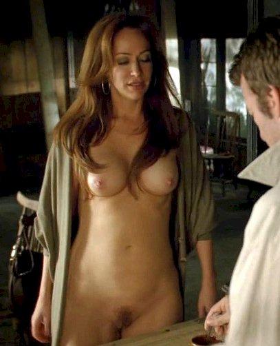 sexy naked girl rubs her vagina