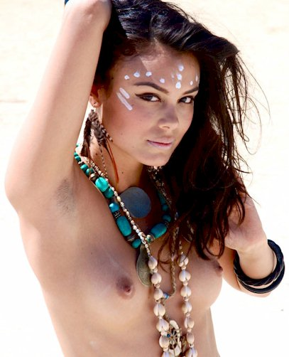 Nathalie Kelley topless