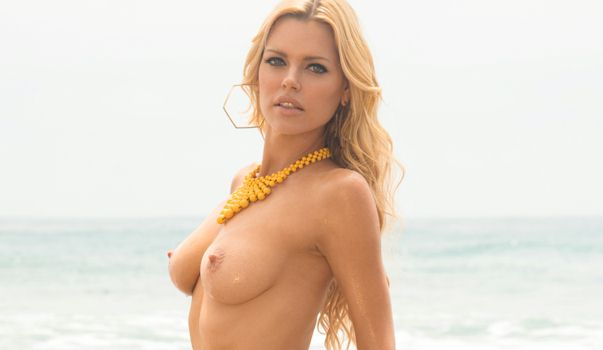 Authoritative Sophie monk shows her tits