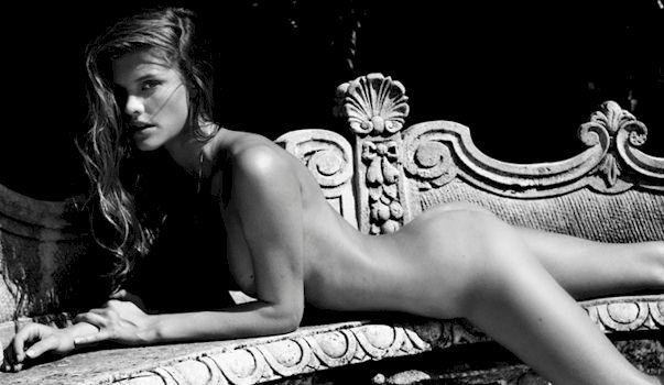 Nina Agdal Topless for 100 Great Danes