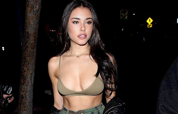 Madison Beer in a Bra