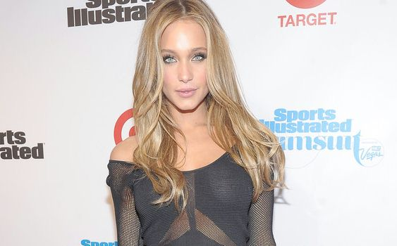 ... Hannah Davis in a see through dress and no bra at the Swimsuit Issue
