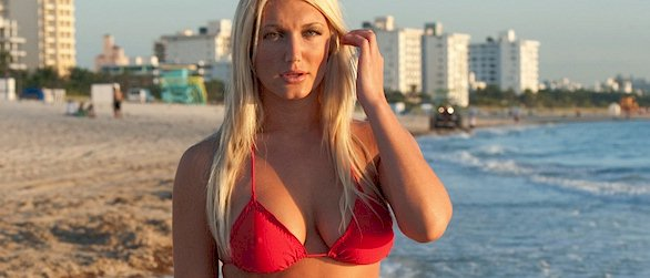 Brooke Hogan in a bikini