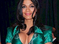 Rosario Dawson's Cleavage Dazzles Washington