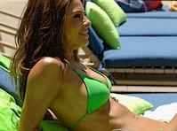 Maria Menounos in a Green Bikini