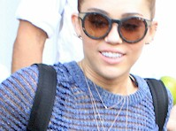 Miley Cyrus See Through to Bra