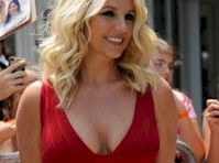 Britney Spears Cleavage in Red