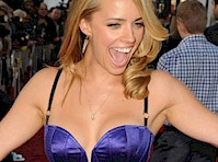 Jessica Barth Cleavage on the Red Carpet