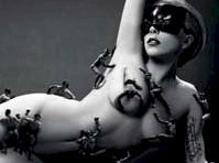 Lady Gaga Nude in Fame Ad