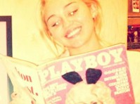 Miley Cyrus Reads Playboy