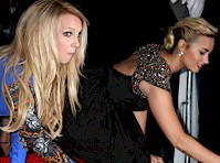 Britney Spears and Demi Lovato Assumes the Position..