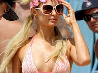 Paris Hilton in a Pink Bikini