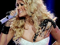 Carrie Underwood Cleavage in Concert