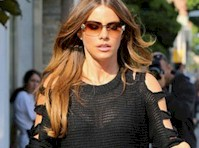 Sofia Vergara's Bra Under a Sheer Top