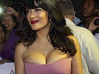 Salma Hayek's Cleavage in Acapulco