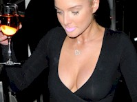 Helen Flanagan in a See Through Top