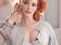 Christina Hendricks Cleavage in a New Photo Shoot