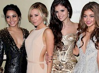 Vanessa Hudgens, Selena Gomez, Ashley Benson and Sarah Hyland at the Golden Globes