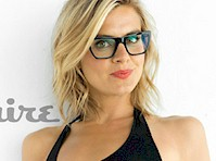 Eliza Coupe in Underwear for Esquire