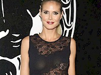 Heidi Klum in a See Through Dress