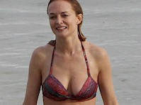 Heather Graham Wet in a Bikini