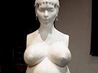 Naked Kim Kardashian Statue
