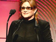 Carrie Fisher See Through to Bra