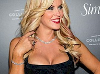 Jenny McCarthy Cleavage in a Black Dress
