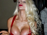 Courtney Stodden Cleavage in a Red Dress