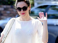 Rose McGowan See Through to Bra