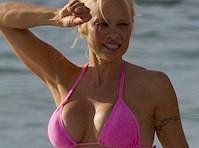 Pamela Anderson in a Pink Bikini