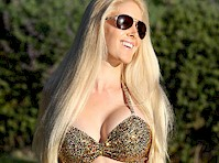 Heidi Montag in a Golden Bikini