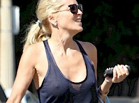 Sharon Stone See Through Candids