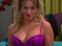 Kaley Cuoco in a Purple Teddy