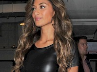 Nicole Scherzinger in a Leather Dress