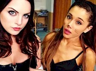 Elizabeth Gillies and Ariana Grande Halloween Costumes