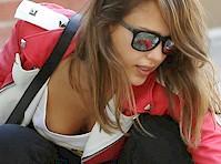 Jessica Alba Downblouse