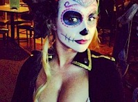 Hayden Panettiere Cleavy Halloween Costume