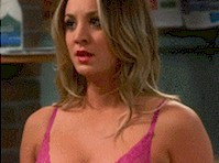 Kaley Cuoco in a Bra GIF