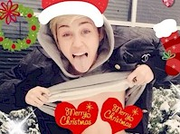 Miley Cyrus Christmas Card