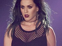 Katy Perry Performs in a Mesh Top