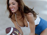 Farrah Abraham Plays Football in a Swimsuit