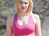 Bella Thorne Hiking in a Sports Bra