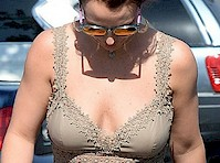 Britney Spears Cleavage in the Sun
