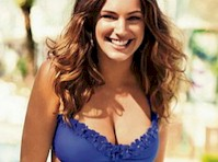 Kelly Brook Models Bikinis