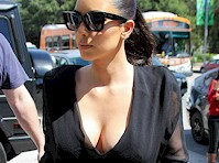Kim Kardashian Cleavage in Black
