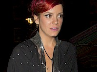 Lily Allen Panty Flash + See Through!