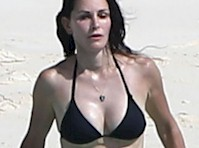 Courteney Cox Bikini Candids!